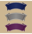 Blue gray and purple ribbon set vector image