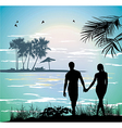 couple holding hands vector image