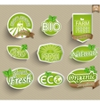 Labels for natural food vector image
