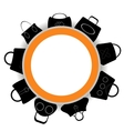Round Banner Collection of Womens Handbags vector image