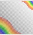 translucent rainbow design vector image
