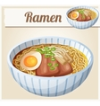 Japanese ramen soup Cartoon icon vector image