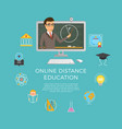 distance education learning the student listens vector image