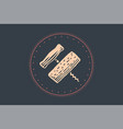 icon of corkscrew in circle on white background vector image