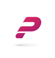 Letter P question mark logo icon design template vector image