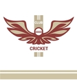 logo template cricket club vector image
