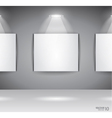 showroom panel vector image vector image