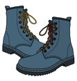 Funny blue boots vector image