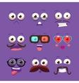Facial Design Elements Set vector image vector image