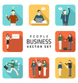 Business peoples flat purchasing work con vector image