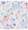 Childish style hand drawn seamless pattern vector image