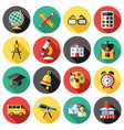 digital red green blue school icons vector image