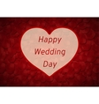 Happy Wedding day vector image