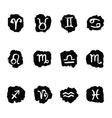 Horoscope Zodiac Star signs set vector image