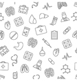 Hospital pattern black icons vector image