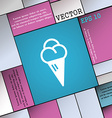 ice cream icon sign Modern flat style for your vector image