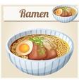 Japanese ramen soup Cartoon icon vector image