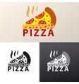 logo for pizzeria vector image