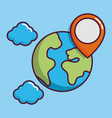 navigation and location design vector image
