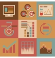 Retro flat design style business infographics vector image