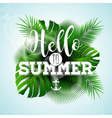 Say Hello to Summer typographic design vector image
