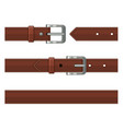 Seamless brown leather belts set vector image