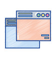 technology windows element and website document vector image