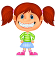 Young children cartoon smiling vector image