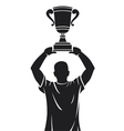 Player lifting trophy - Champion vector image vector image