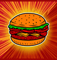 burger isolated on white background vector image