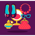 Shopping flat design vector image vector image