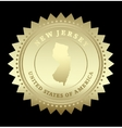 Gold star label New Jersey vector image