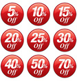 Shopping Sale Discount Badge in Red vector image
