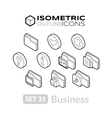 Isometric outline icons set 31 vector image
