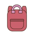 drawing pink bag school pupil vector image