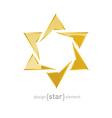luxury golden star on white background vector image