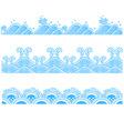 ocean seamless pattern vector image