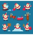 Santa Deer Christmas and New Year vector image