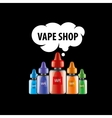 logo for the shop of electronic cigarettes vector image
