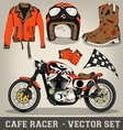 Cafe Racer Set vector image