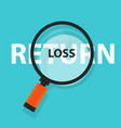 Loss or return in investment concept business vector image