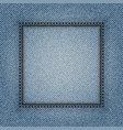 jeans square frame vector image