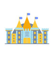 colorful fairy tale castle vector image vector image