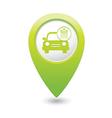 car wash icon map pointer green vector image vector image