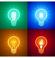 Evolution of lighting equipment vector image