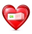 Heart and Electric Switch vector image