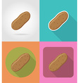 vegetables flat icons 02 vector image