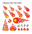 fireballs and flame vector image