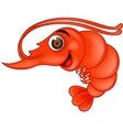 Funny shrimp cartoon vector image