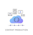 neon content production line icon vector image